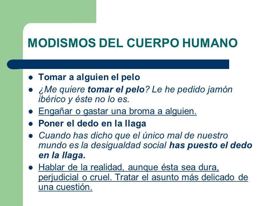 MODISMOS DEL CUERPO HUMANO