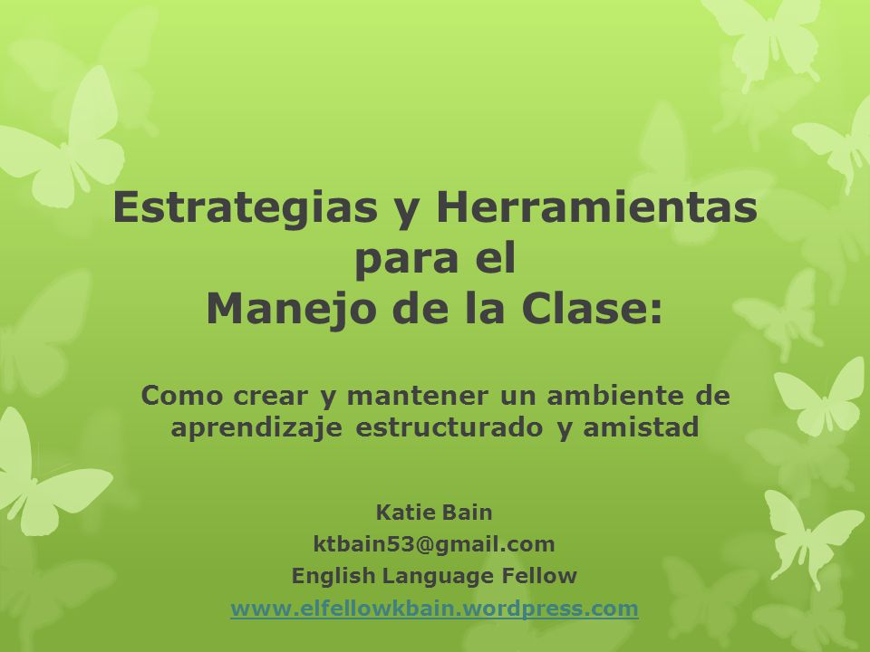 Estrategias y Herramientas para el English Language Fellow