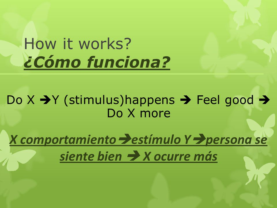 How it works ¿Cómo funciona
