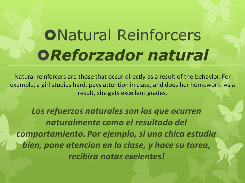 Natural Reinforcers Reforzador natural