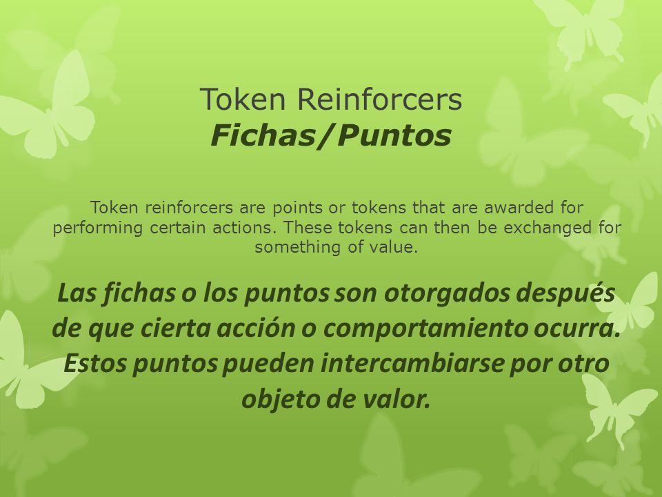 Token Reinforcers Fichas/Puntos