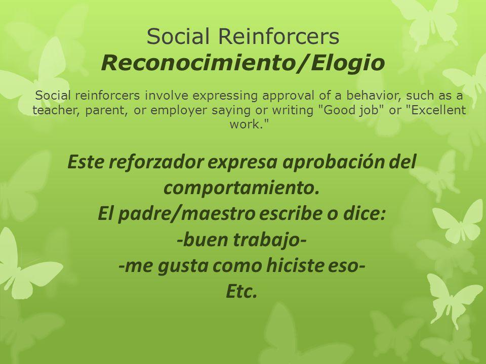 Social Reinforcers Reconocimiento/Elogio