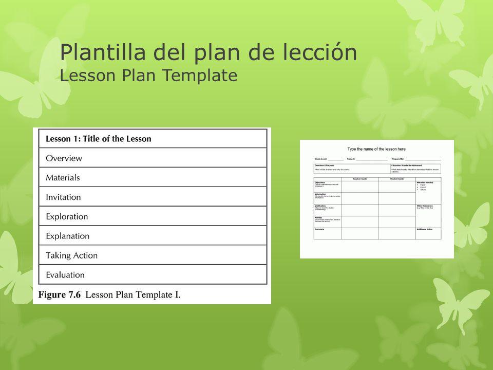 Plantilla del plan de lección Lesson Plan Template