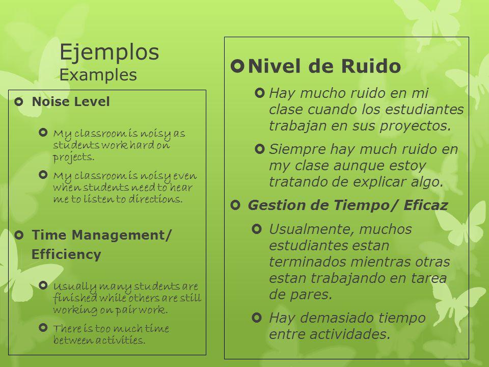 Ejemplos Examples Nivel de Ruido