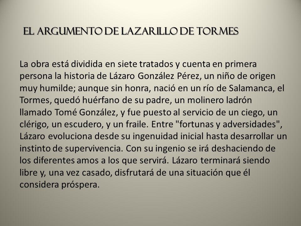 El argumento de Lazarillo de Tormes
