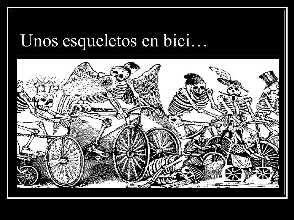 Unos esqueletos en bici…