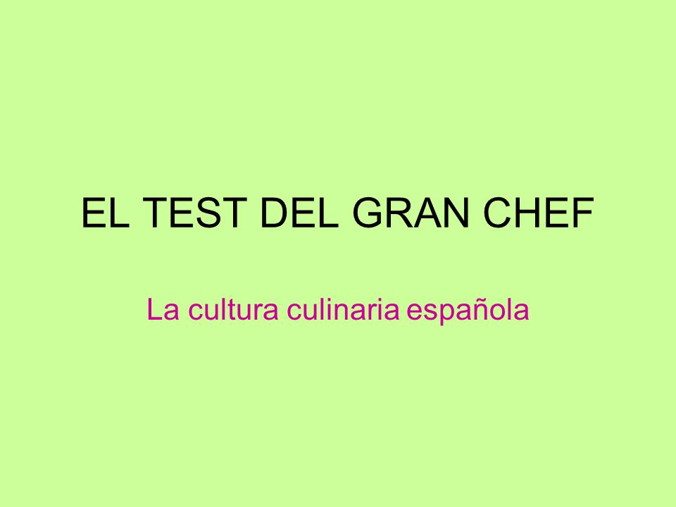 La cultura culinaria española