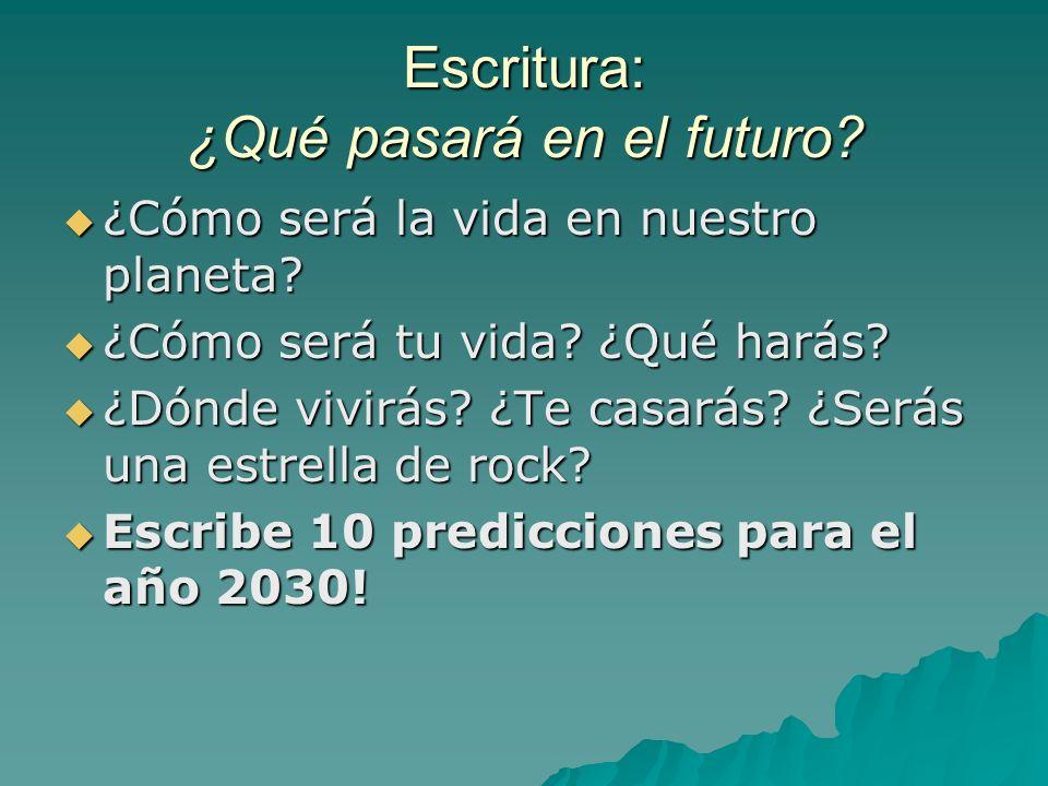 Escritura: ¿Qué pasará en el futuro