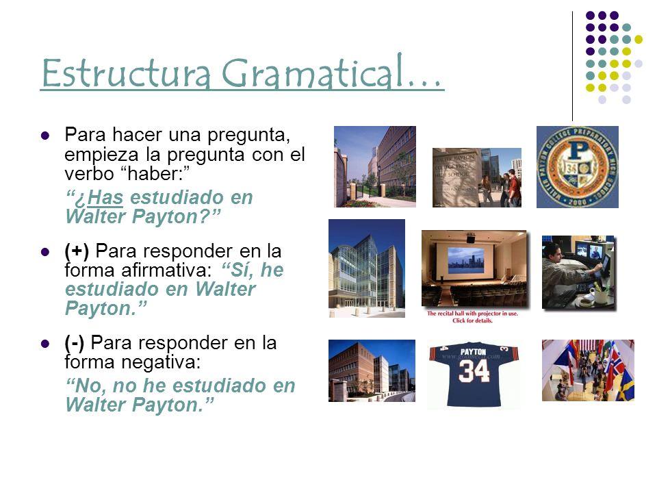Estructura Gramatical…