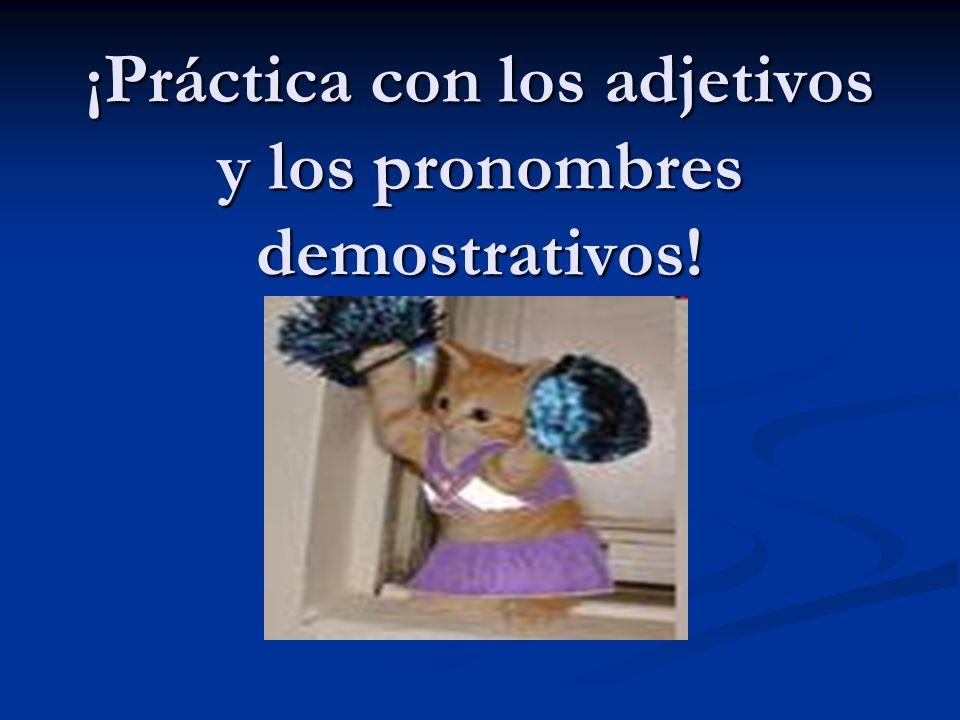 ¡Práctica con los adjetivos y los pronombres demostrativos!