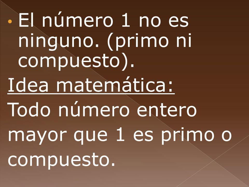 El número 1 no es ninguno. (primo ni compuesto).