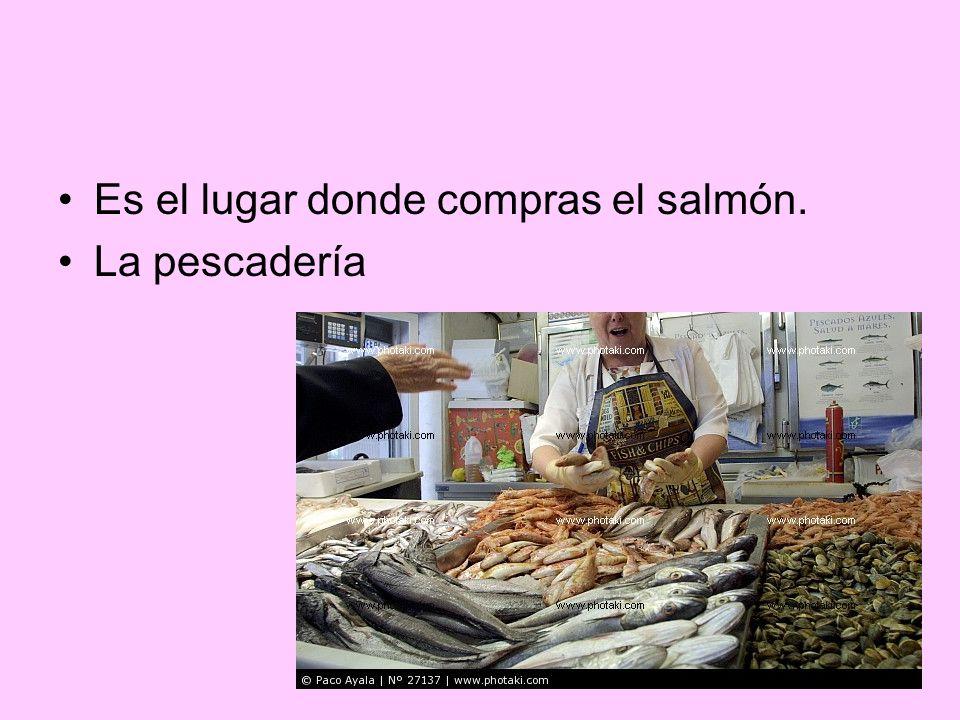 Es el lugar donde compras el salmón.