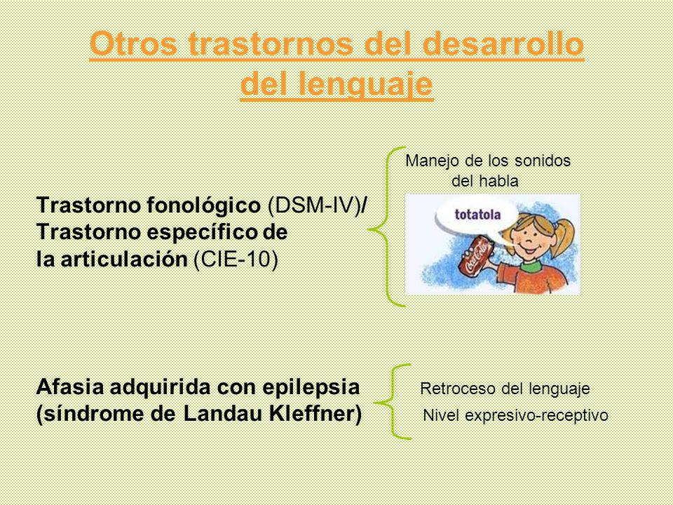 Otros trastornos del desarrollo del lenguaje