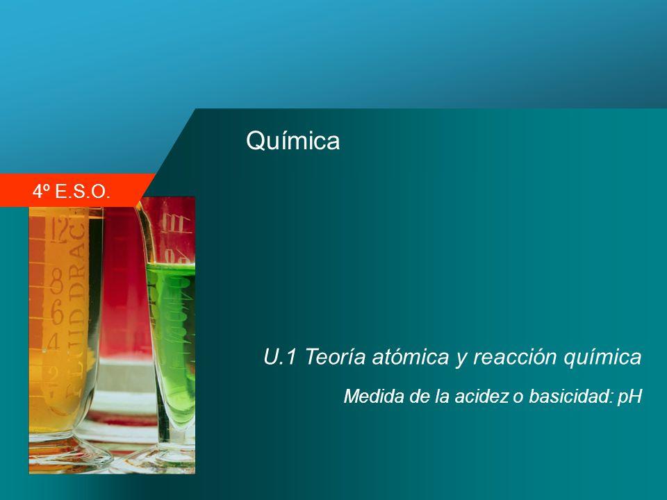Química U.1 Teoría atómica y reacción química