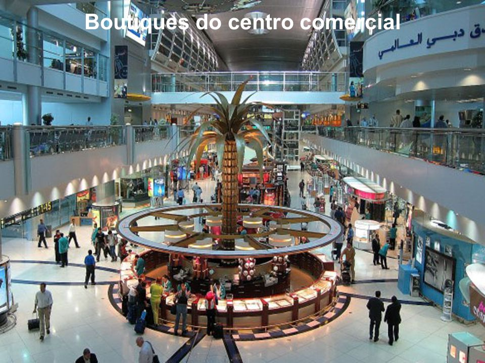 Boutiques do centro comercial
