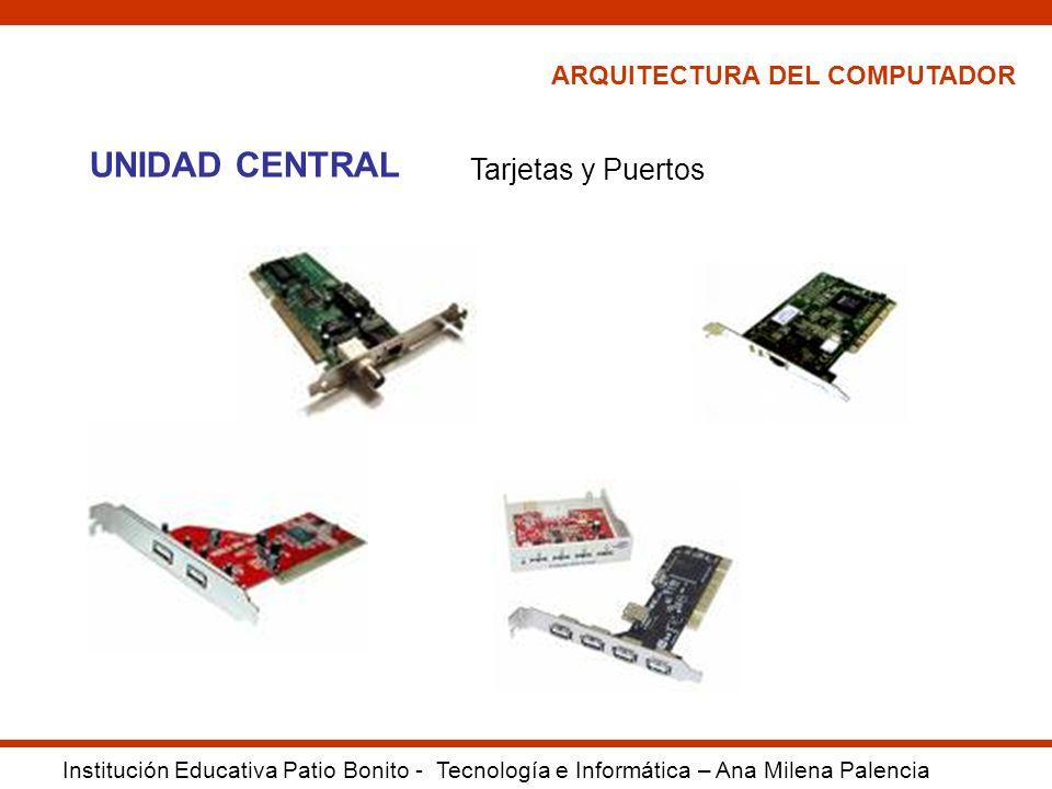 UNIDAD CENTRAL Tarjetas y Puertos ARQUITECTURA DEL COMPUTADOR