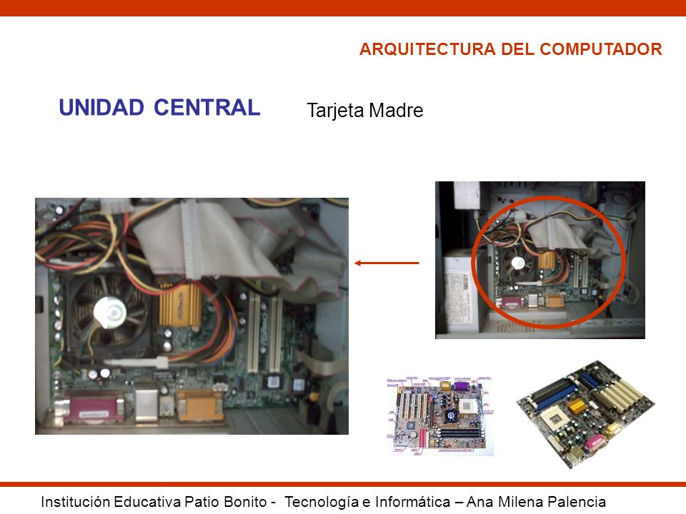 UNIDAD CENTRAL Tarjeta Madre ARQUITECTURA DEL COMPUTADOR