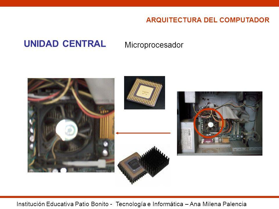 UNIDAD CENTRAL Microprocesador ARQUITECTURA DEL COMPUTADOR