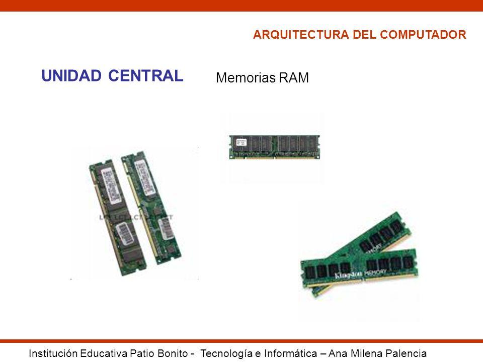 UNIDAD CENTRAL Memorias RAM ARQUITECTURA DEL COMPUTADOR