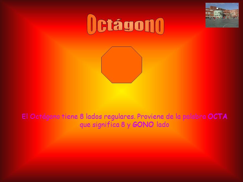 Octágono El Octágono tiene 8 lados regulares.