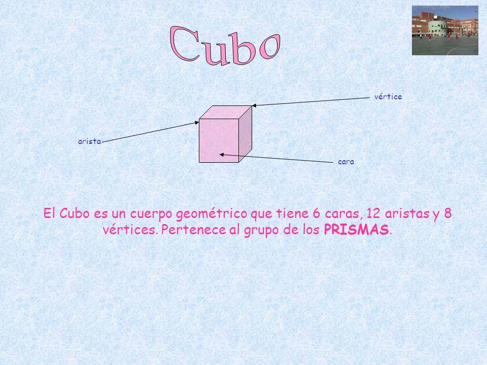 Cubo vértice. arista. cara.