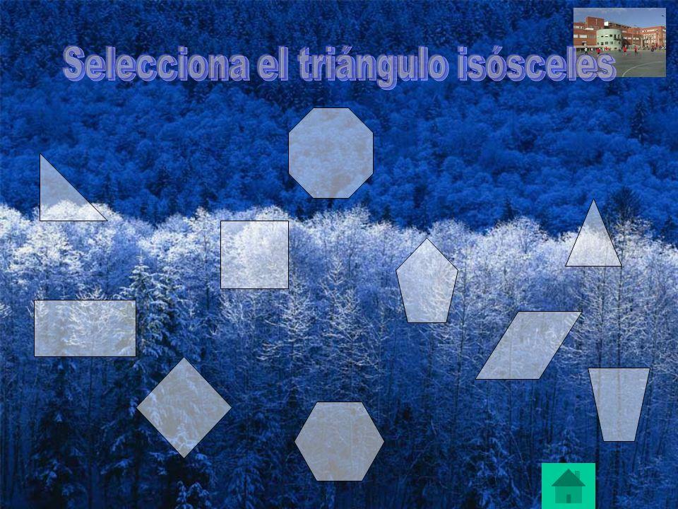 Selecciona el triángulo isósceles