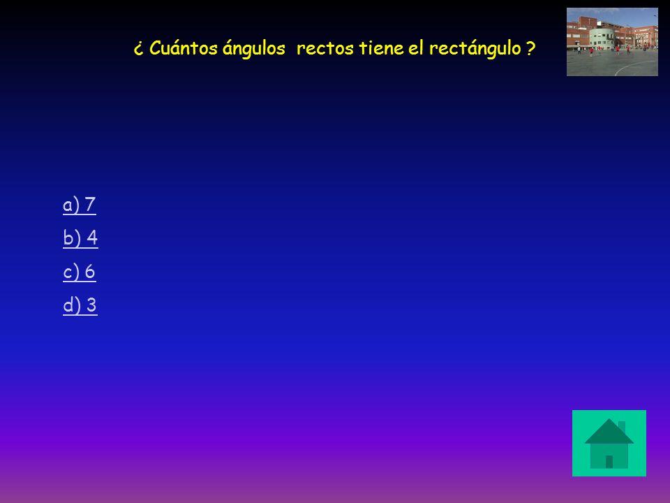 ¿ Cuántos ángulos rectos tiene el rectángulo