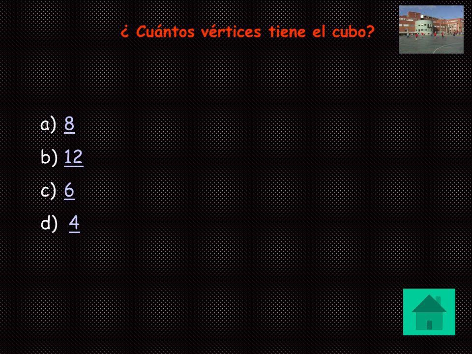 ¿ Cuántos vértices tiene el cubo