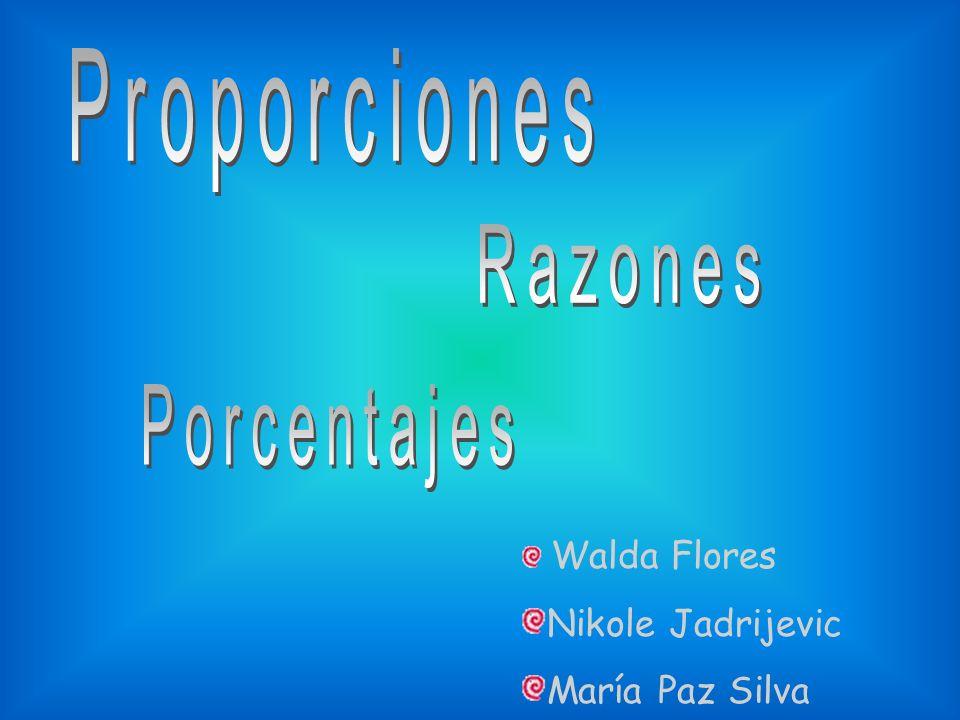 Proporciones Razones Porcentajes Nikole Jadrijevic María Paz Silva