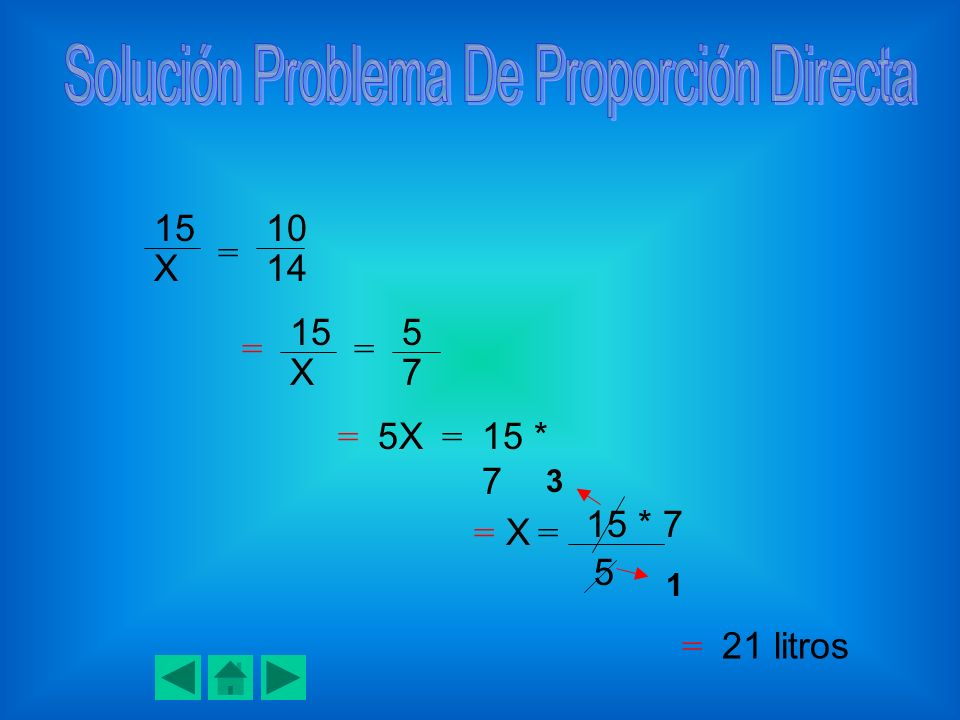 Solución Problema De Proporción Directa