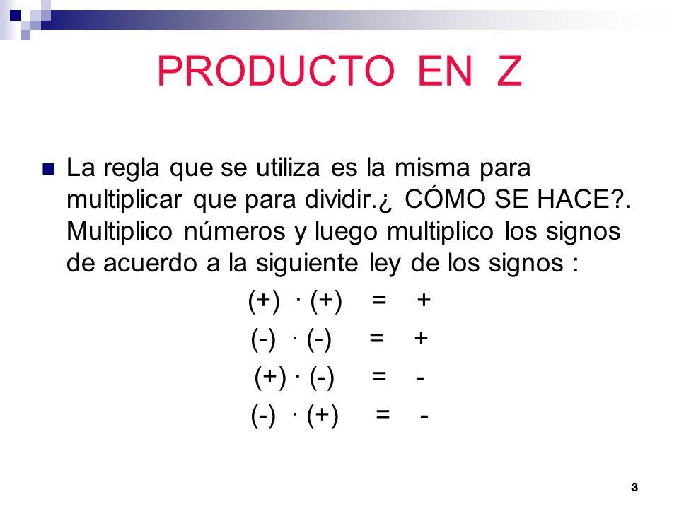 PRODUCTO EN Z