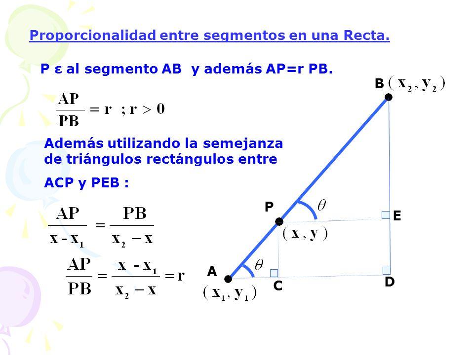Proporcionalidad entre segmentos en una Recta.