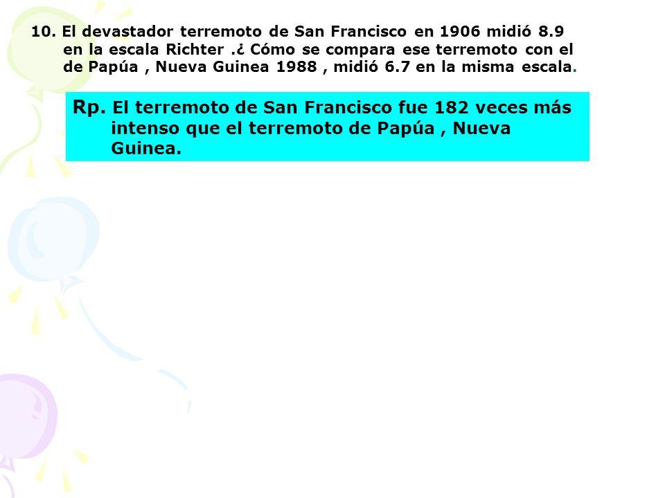 10. El devastador terremoto de San Francisco en 1906 midió 8