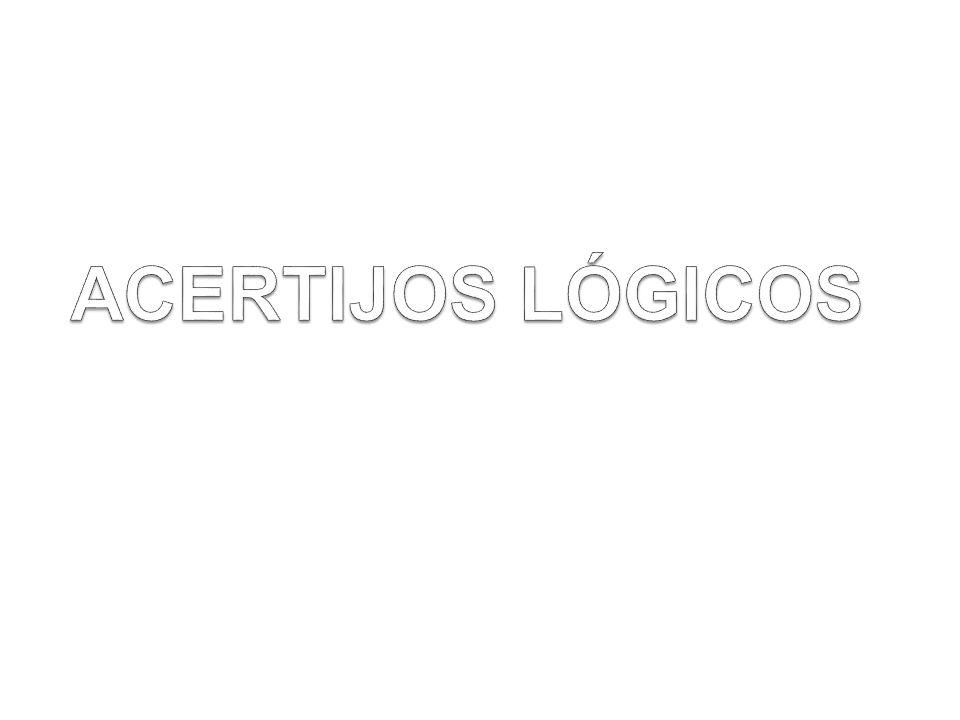 ACERTIJOS LÓGICOS