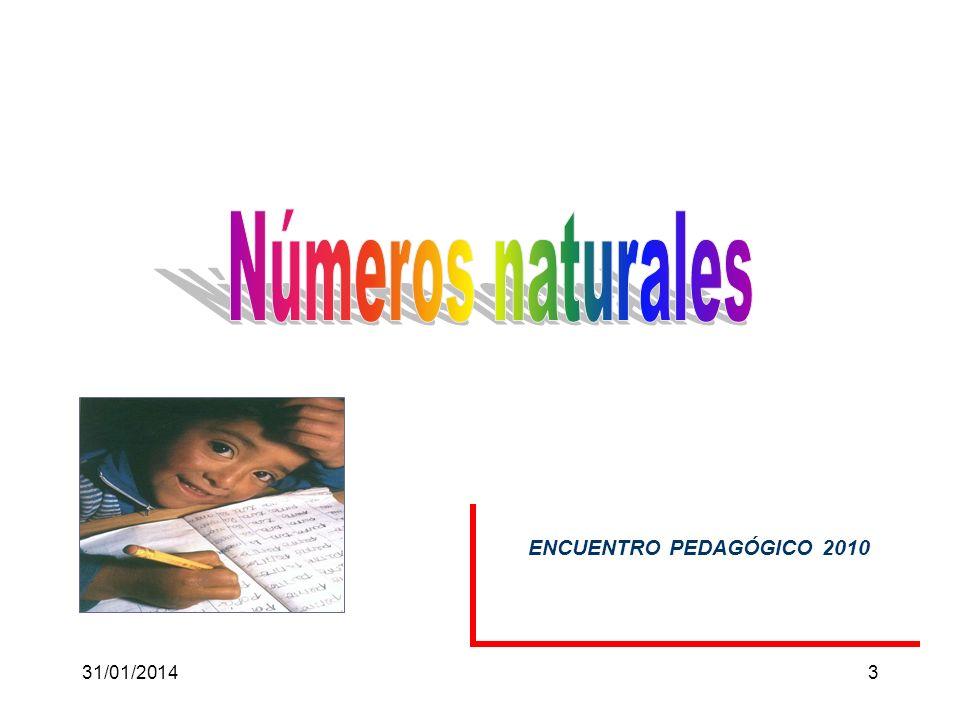 Números naturales ENCUENTRO PEDAGÓGICO 2010 24/03/2017 3