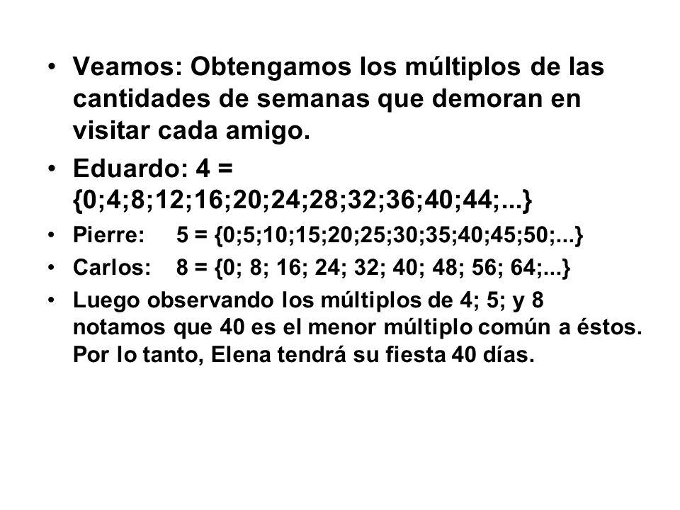Eduardo: 4 = {0;4;8;12;16;20;24;28;32;36;40;44;...}