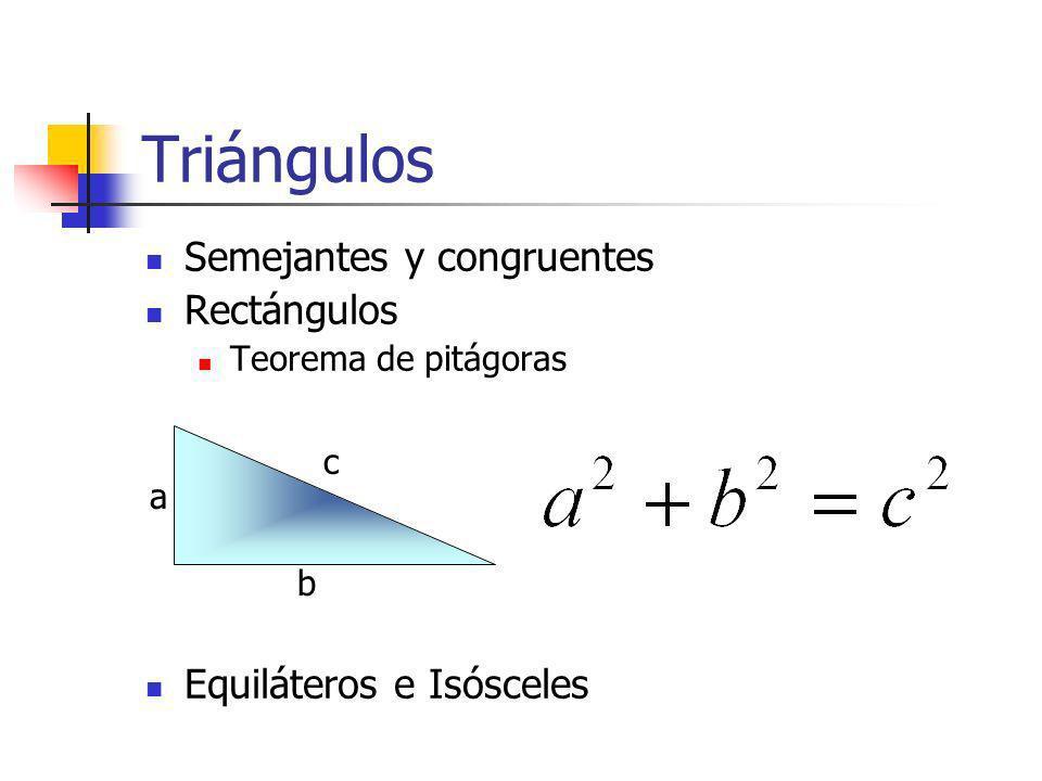 Triángulos Semejantes y congruentes Rectángulos
