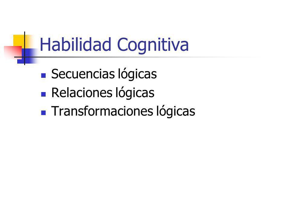 Habilidad Cognitiva Secuencias lógicas Relaciones lógicas