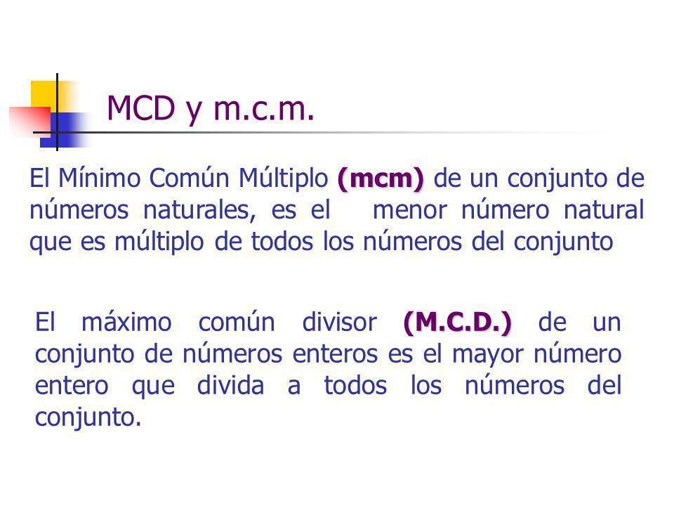 MCD y m.c.m.