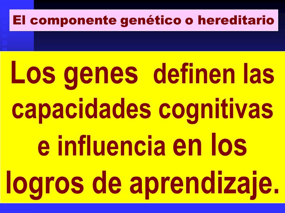 El componente genético o hereditario