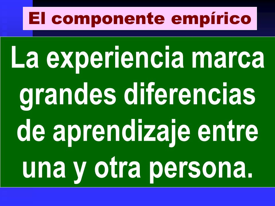 El componente empírico