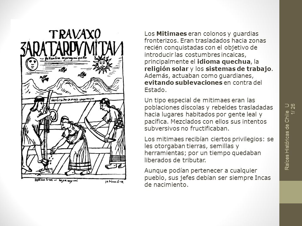 Los Mitimaes eran colonos y guardias fronterizos