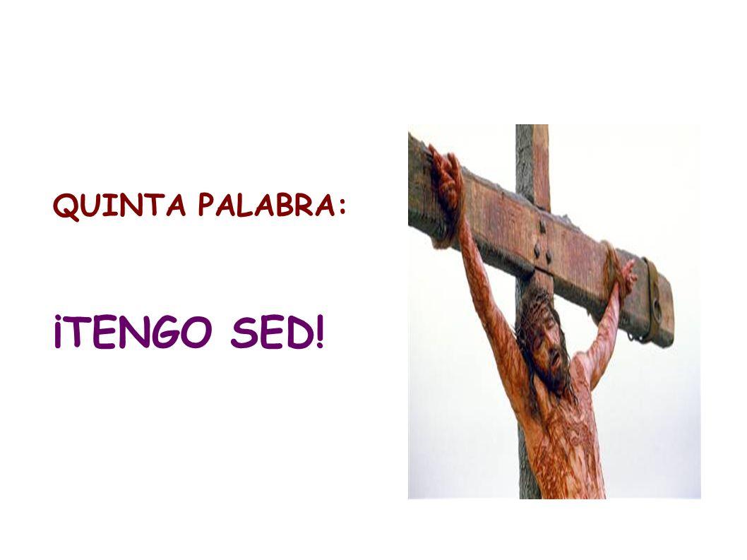 QUINTA PALABRA: ¡TENGO SED!