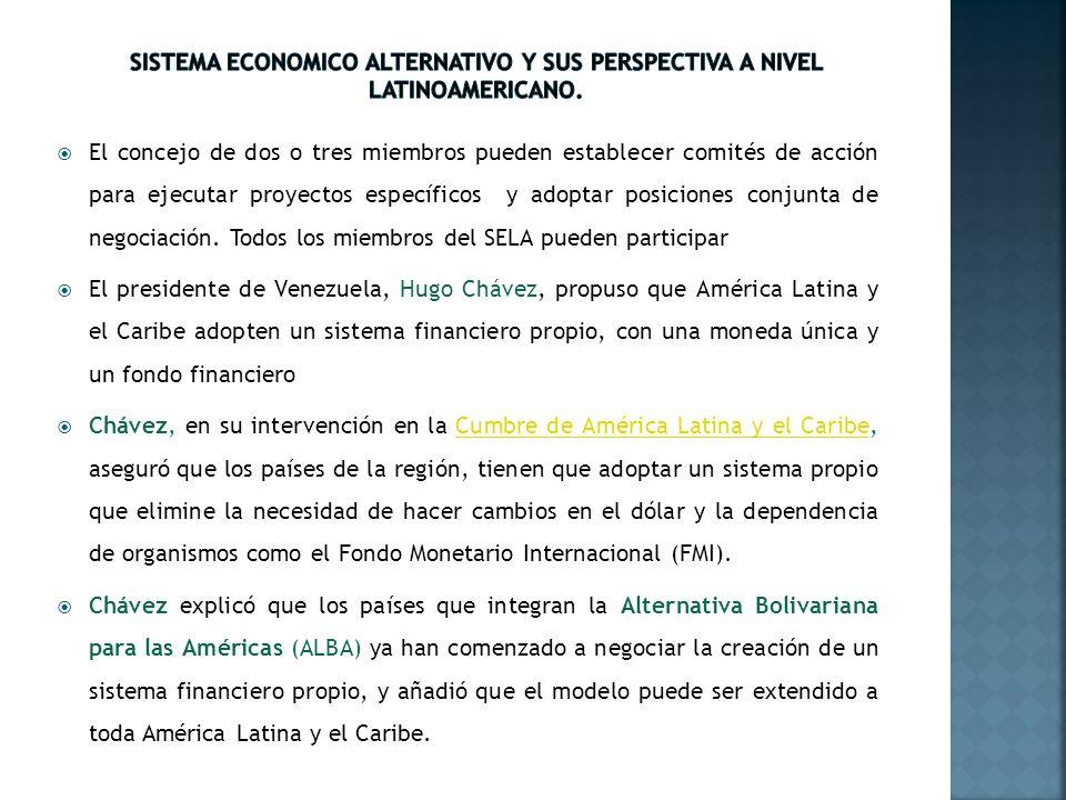 SISTEMA ECONOMICO ALTERNATIVO Y SUS PERSPECTIVA A NIVEL LATINOAMERICANO.