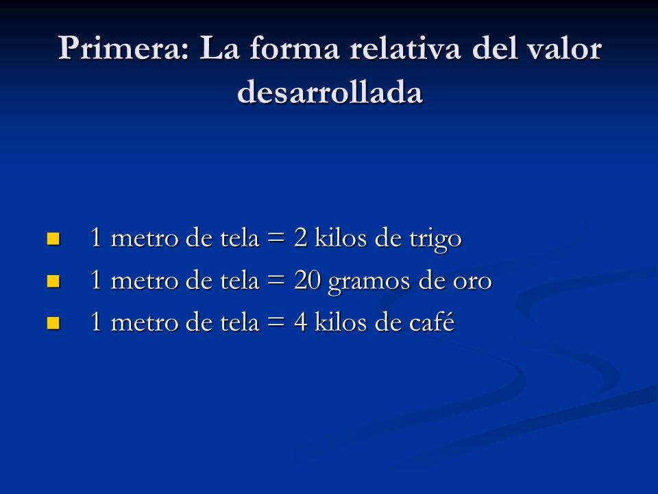Primera: La forma relativa del valor desarrollada