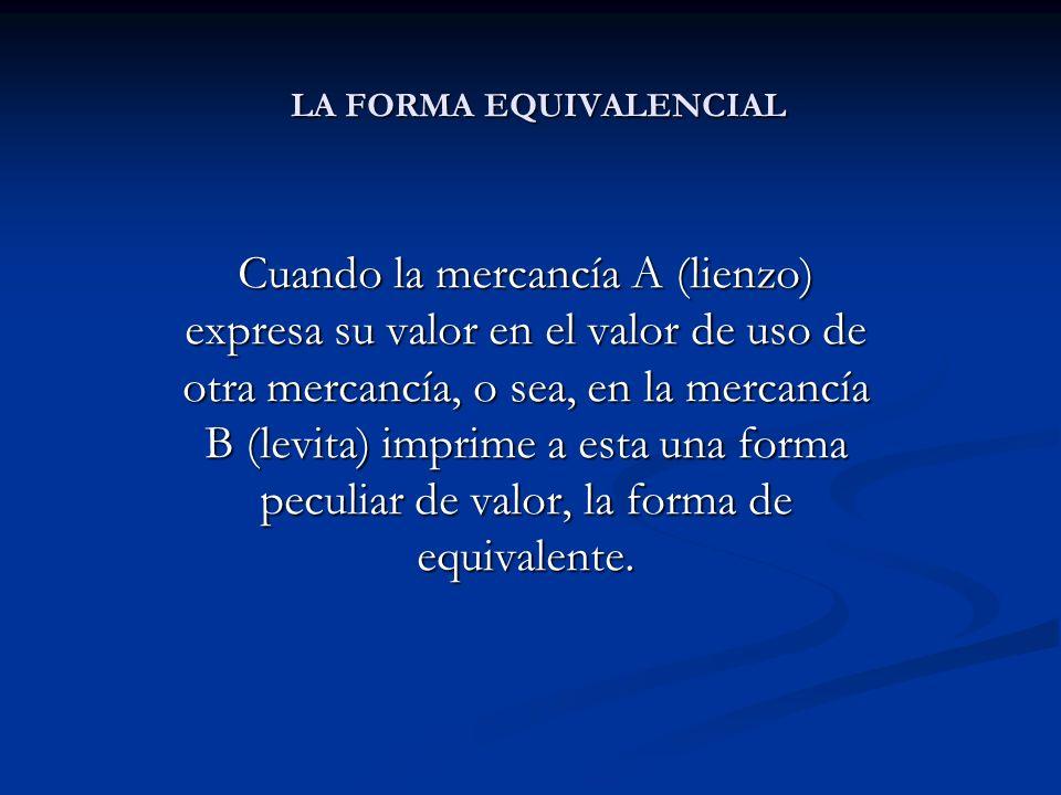LA FORMA EQUIVALENCIAL