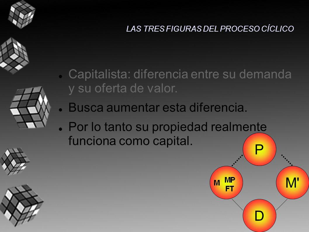P M D Capitalista: diferencia entre su demanda y su oferta de valor.