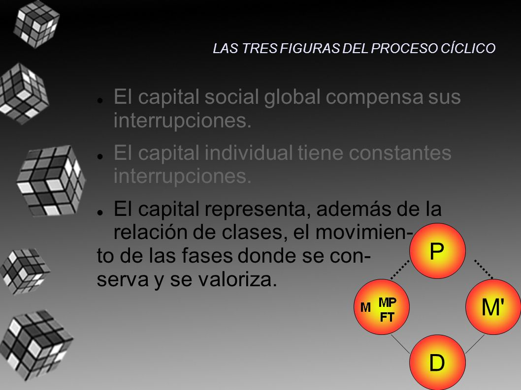 P M D El capital social global compensa sus interrupciones.