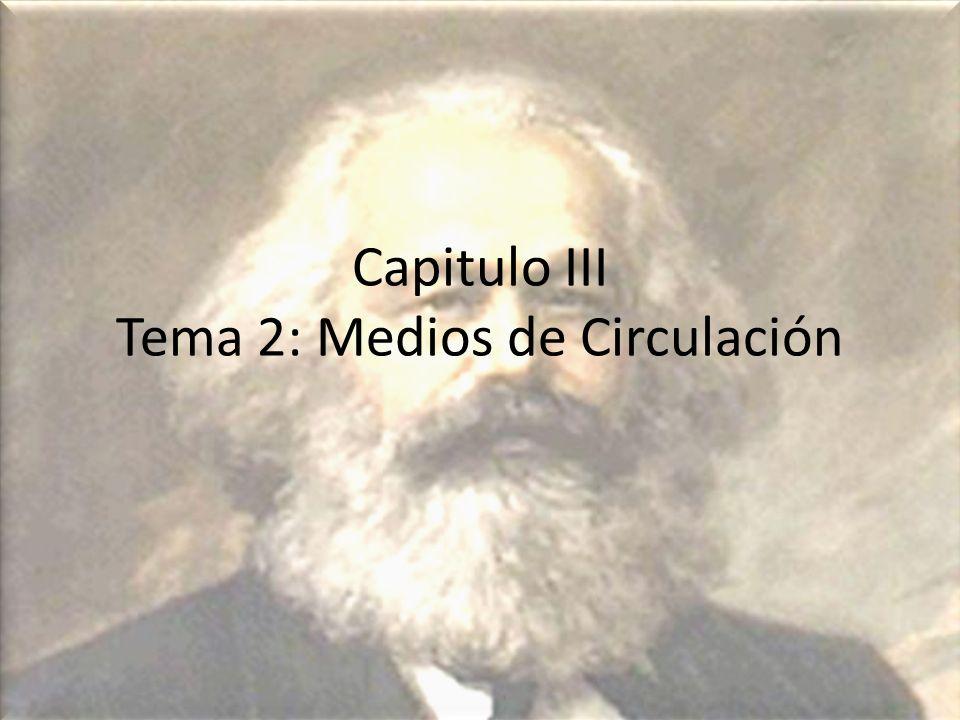 Capitulo III Tema 2: Medios de Circulación