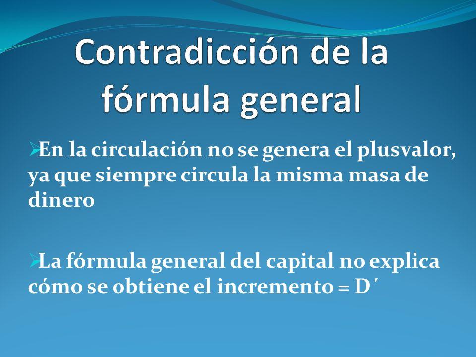 Contradicción de la fórmula general